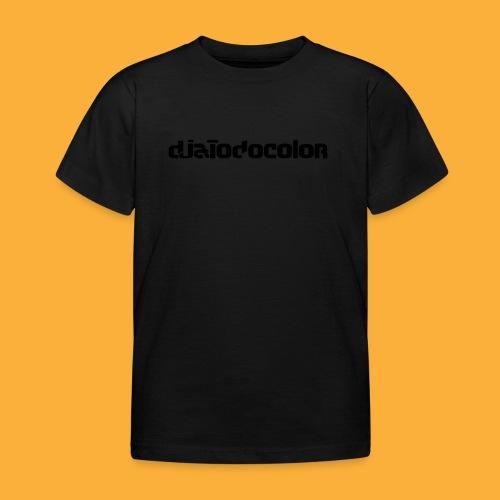 DJATODOCOLOR LOGO NEGRO - Camiseta niño