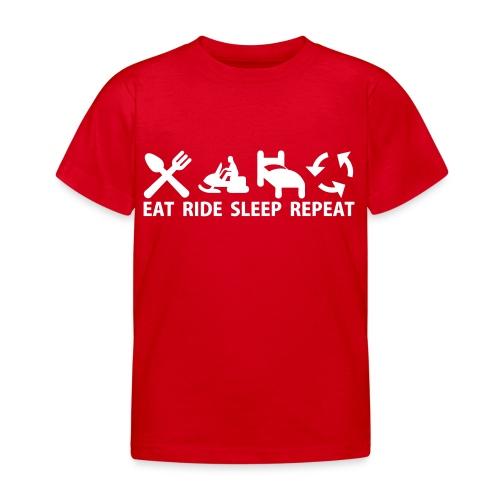 Snöskoter (Sled) - T-shirt barn