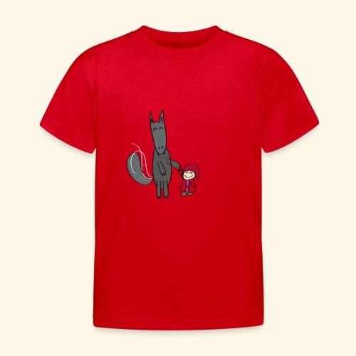 Le loup et le petit chaperon rouge - T-shirt Enfant