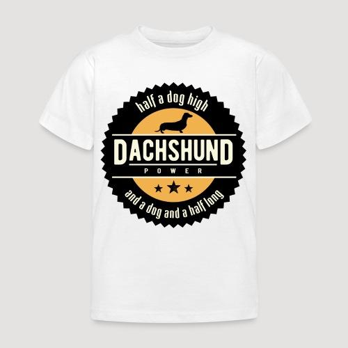 Dachshund Power - Kinderen T-shirt