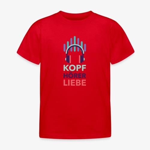 kopfhoererliebe bunt - Kinder T-Shirt