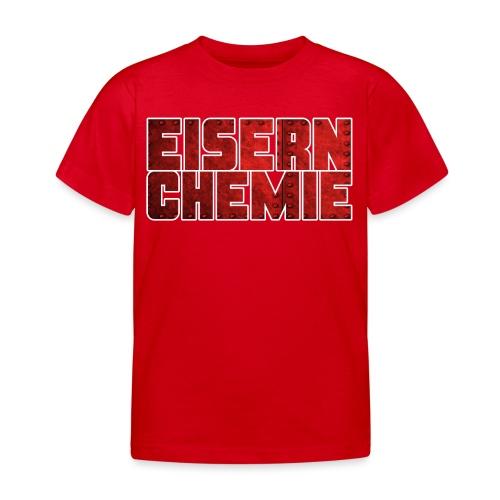 Eiserner Chemie Script Metalloptik - Kinder T-Shirt