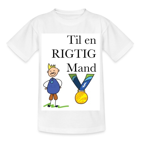 En rigtig mand - Børne-T-shirt