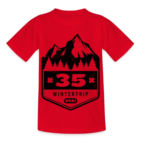 35 ✕ WINTERTRIP ✕ 2021 • BLACK - Kinderen T-shirt
