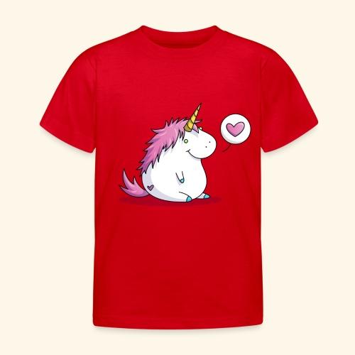 Fat Unicorn with Heart - Kinder T-Shirt