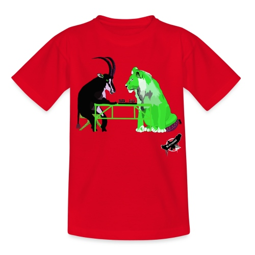 Playing Senet by BlackenedMoonArts, green w. logo - Børne-T-shirt