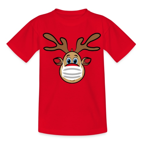 Ugly Xmas Rudi Reindeer mit Maske - Kinder T-Shirt