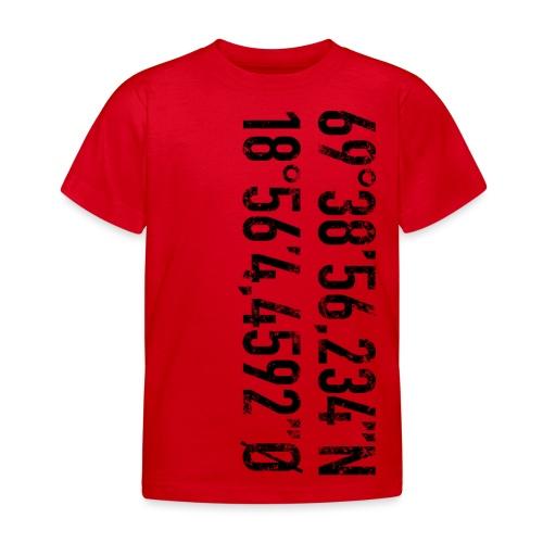 Alfheim stadion koordinater (fra Det norske plagg) - T-skjorte for barn