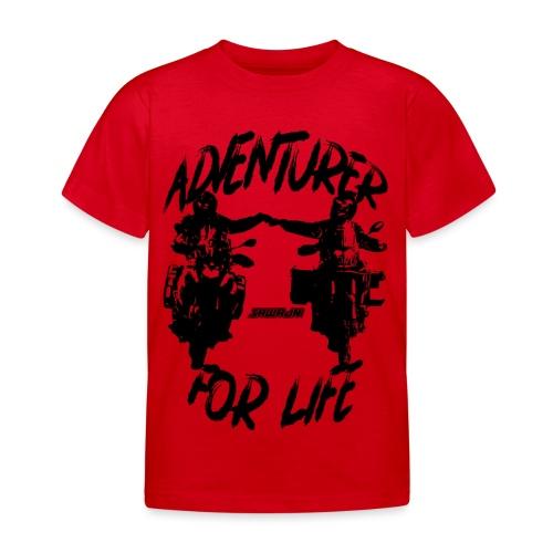 Adventurer For Life - black print - Kinderen T-shirt