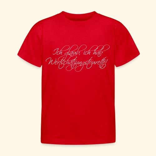 Wertschätzungstourette - Kinder T-Shirt