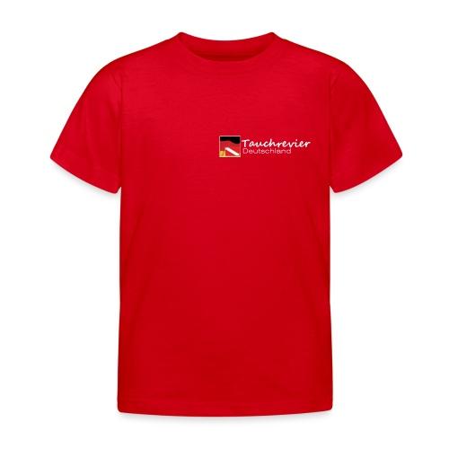 Tauchrevier Deutschland Logo classic weiß - Kinder T-Shirt