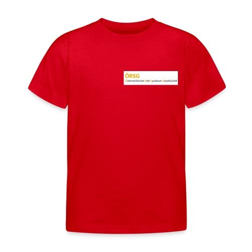 Text-Logo der ÖRSG - Rett Syndrom Österreich - Kinder T-Shirt