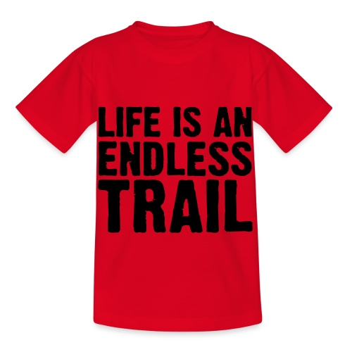 Life is an endless trail - Kinder T-Shirt