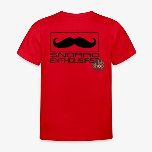 Snorro enthusiastic (black) - Kids' T-Shirt