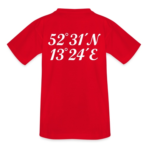 Berlin Koordinaten - Kinder T-Shirt