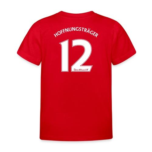 Rückennummer 12, weiß - Kinder T-Shirt
