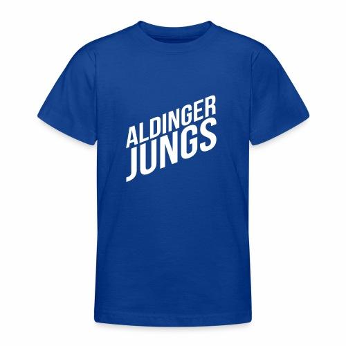 Aldinger Jungs. Weiß - Teenager T-Shirt
