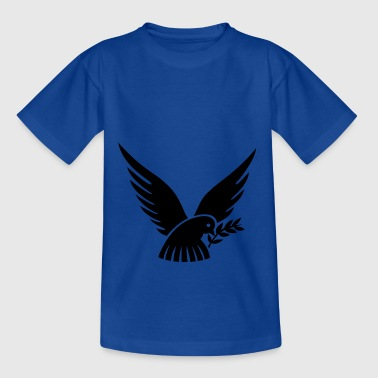 Colombe de la paix noire - T-shirt Ado