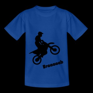 Motorrad im Wheelie - Teenager T-Shirt