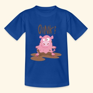 Toddlers & Kids Funny Piggy T Shirt - Teenage T-shirt