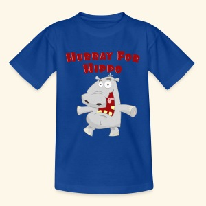 Toddlers & Kids Happy Hippo T Shirt - Teenage T-shirt