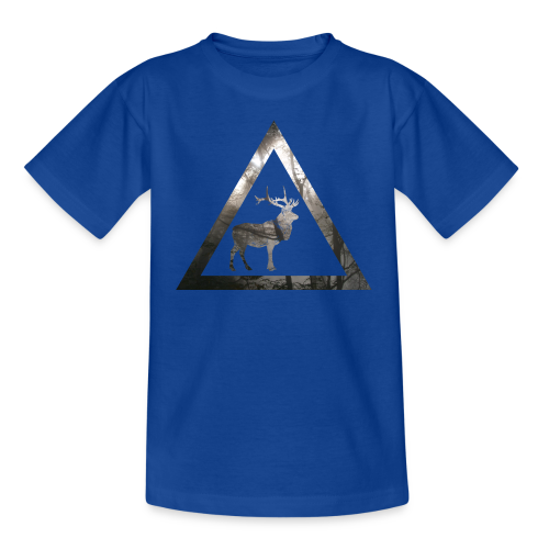 Mystical Forest Deer Triangle - Teenager T-Shirt