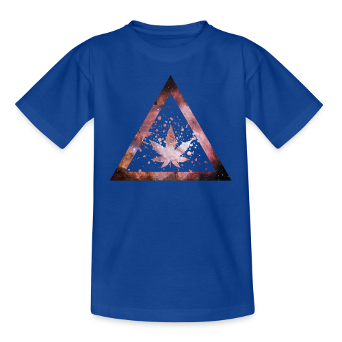 Galaxy Weed Marijuana Triangle Splashes - Teenager T-Shirt
