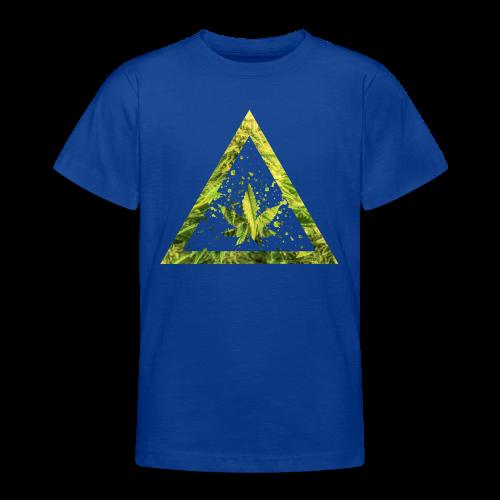Marijuana Cannabisblatt Triangle with Splashes - Teenager T-Shirt