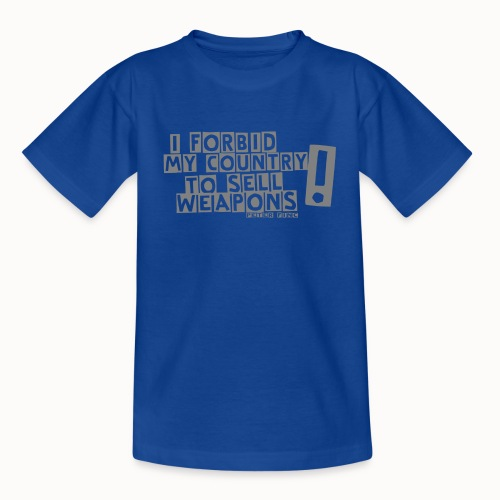 I Forbid Weapons grey - Teenager T-Shirt