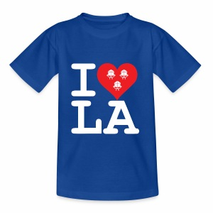 I Love LA! weiss mit Bändern - Teenager T-Shirt