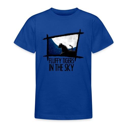 Fluffy Tigers mit Schriftzug - Teenager T-Shirt