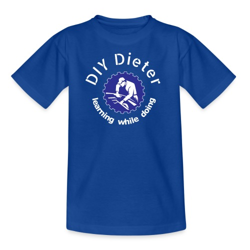 DIY Dieter - weiße Schrift - Teenager T-Shirt
