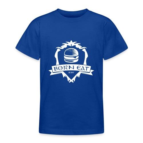Born To Eat Logo white - Teenager T-Shirt