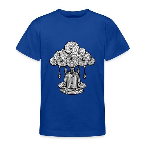 nuage lundi pluie, le lundi c'est nul... - T-shirt Ado