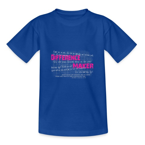 Difference Maker pink - Teenager T-Shirt