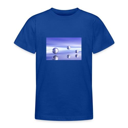 Schwebende Kugeln (3D Landschaft) - Teenager T-Shirt