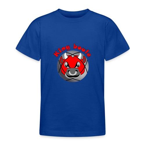 t shirt King boule roi pétanque tireur pointeur - T-shirt Ado