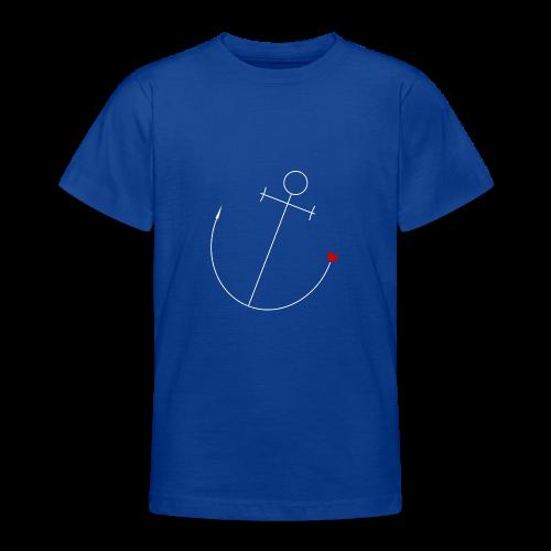 Anker mit Herz - Teenager T-Shirt