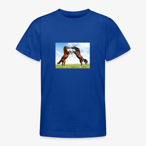 kaksi hevosta - Nuorten t-paita