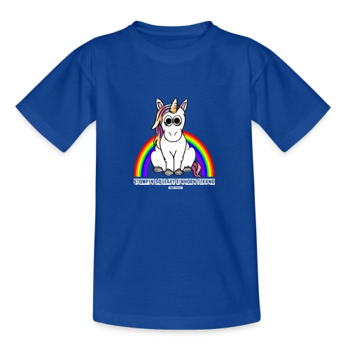 Einhorn Tekkno Regenbogen - Teenager T-Shirt