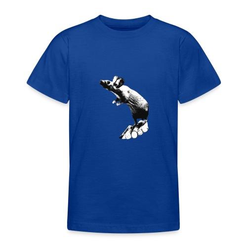 Seisova nakuhiiri - mustavalko - Nuorten t-paita
