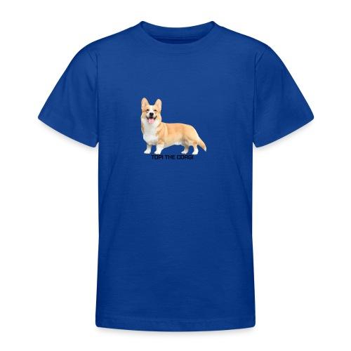 Topi the Corgi - Black text - Teenage T-Shirt