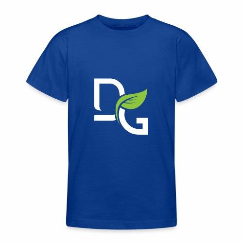 DrGreen Logo Symbol weiss grün - Teenager T-Shirt