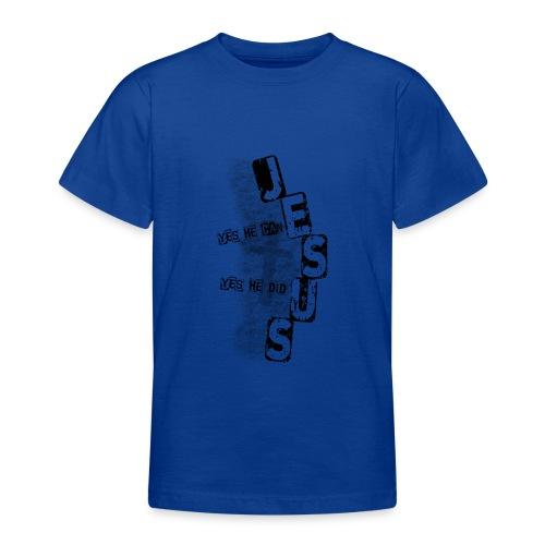 Jesus yes he can schwarz - Teenager T-Shirt