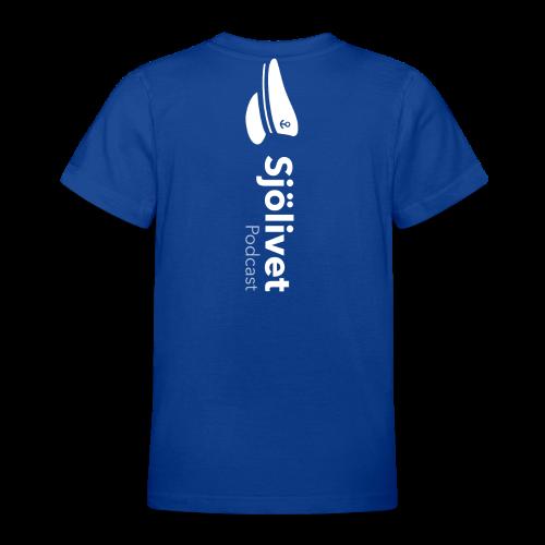 Sjölivet podcast - Vit logotyp - T-shirt tonåring