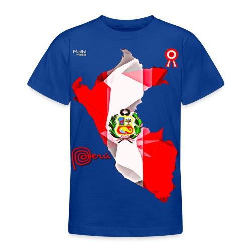 Mapa del Peru, Bandera und Escarapela - Teenager T-Shirt