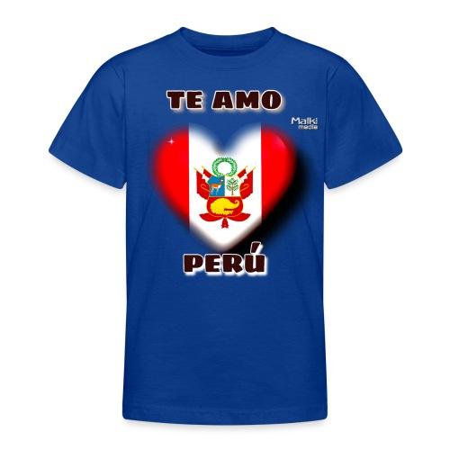 Te Amo Peru Corazon - Camiseta adolescente