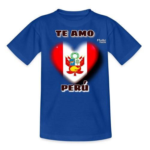Te Amo Peru Corazon - Teenage T-Shirt