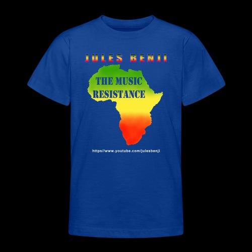JULES BENJI & MUSIC RESISTANCE africa design - Teenage T-Shirt