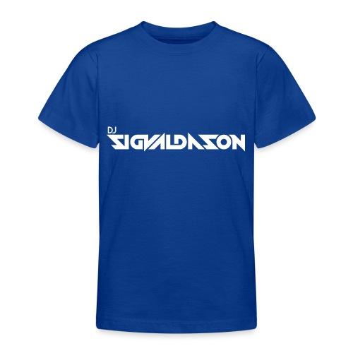 DJ logo hvid - Teenager-T-shirt